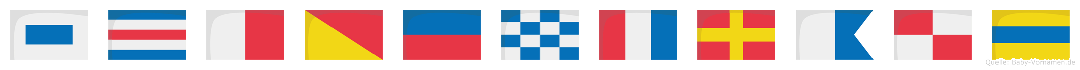 Schöntraud im Flaggenalphabet