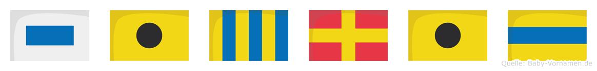 Sigrid im Flaggenalphabet