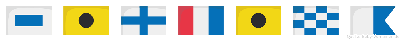Sixtina im Flaggenalphabet