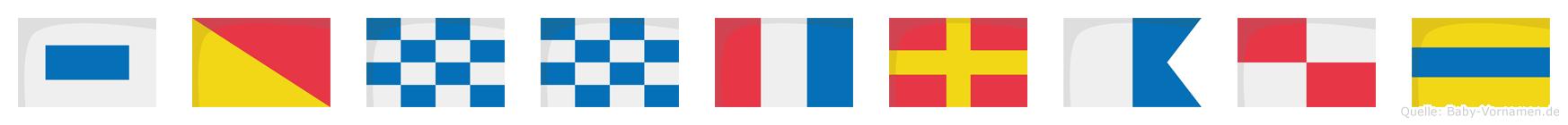 Sonntraud im Flaggenalphabet