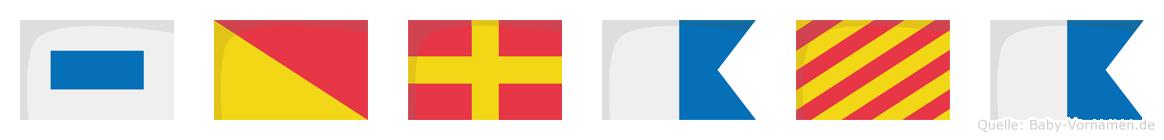 Soraya im Flaggenalphabet