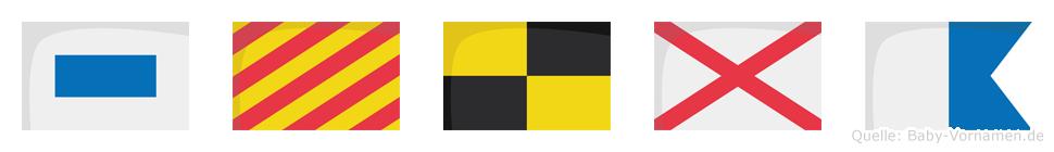 Sylva im Flaggenalphabet