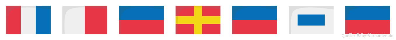 Therese im Flaggenalphabet