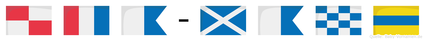 Uta-Mand im Flaggenalphabet