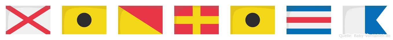 Viorica im Flaggenalphabet