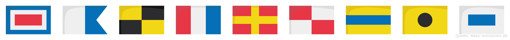 Waltrudis im Flaggenalphabet