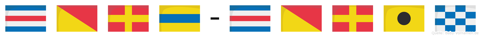 Cord-Corin im Flaggenalphabet