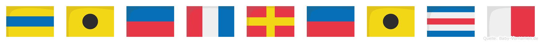 Dietreich im Flaggenalphabet