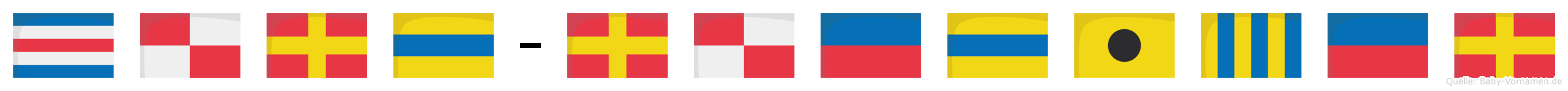 Curd-Rüdiger im Flaggenalphabet
