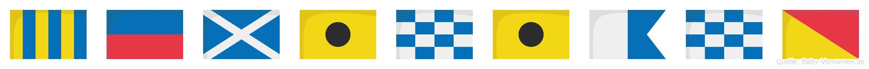 Geminiano im Flaggenalphabet