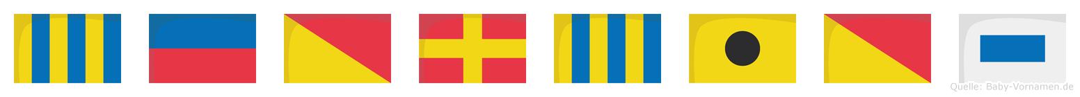 Georgios im Flaggenalphabet