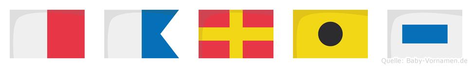 Haris im Flaggenalphabet