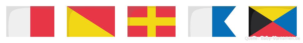 Horaz im Flaggenalphabet