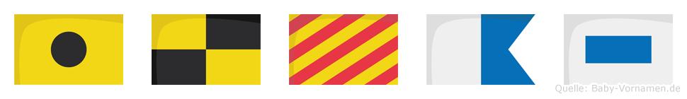 Ilyas im Flaggenalphabet