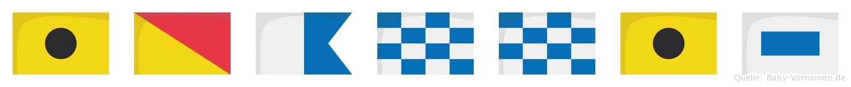 Ioannis im Flaggenalphabet