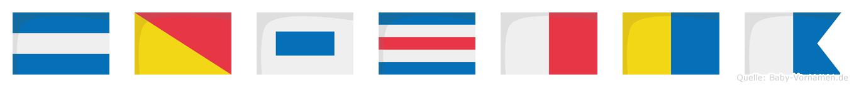 Joschka im Flaggenalphabet