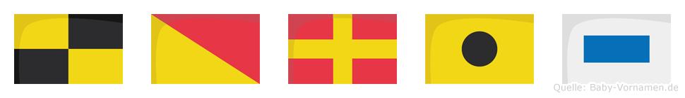 Loris im Flaggenalphabet