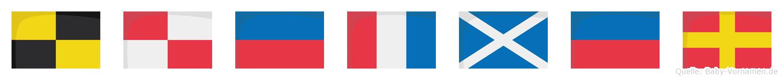 Lütmer im Flaggenalphabet