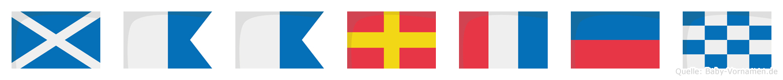 Maarten im Flaggenalphabet