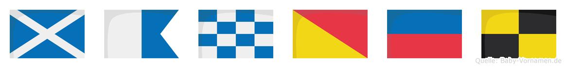 Manoel im Flaggenalphabet