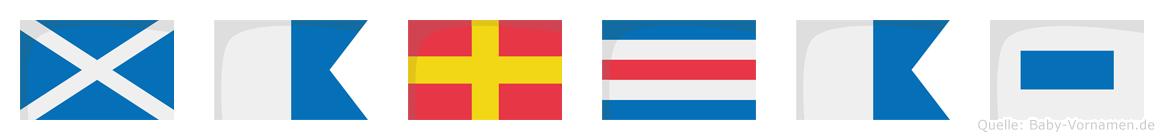Marcas im Flaggenalphabet