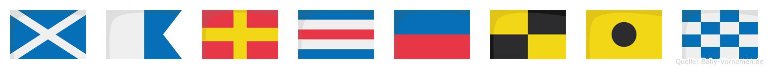 Marcelin im Flaggenalphabet
