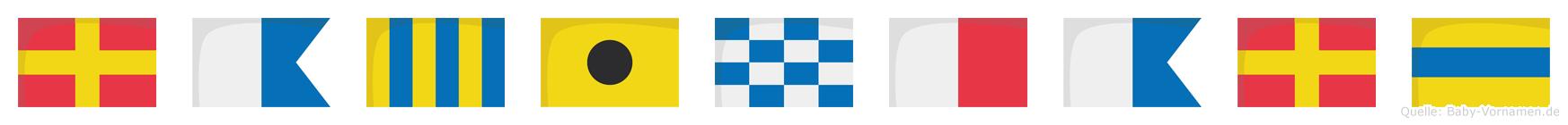 Raginhard im Flaggenalphabet