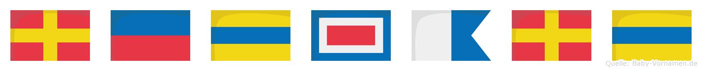 Redward im Flaggenalphabet