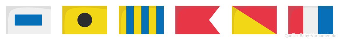 Sigbot im Flaggenalphabet