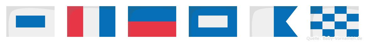 Stepan im Flaggenalphabet
