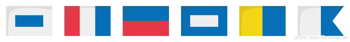 Stepka im Flaggenalphabet