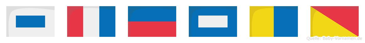 Stepko im Flaggenalphabet