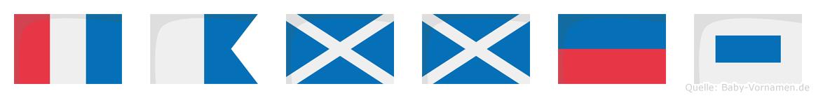 Tammes im Flaggenalphabet
