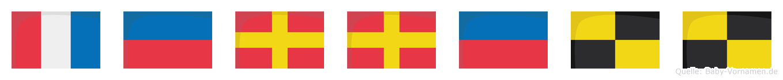 Terrell im Flaggenalphabet