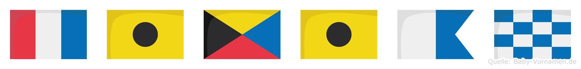 Tizian im Flaggenalphabet