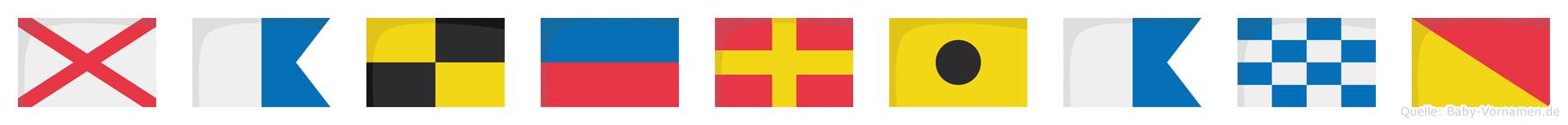 Valeriano im Flaggenalphabet