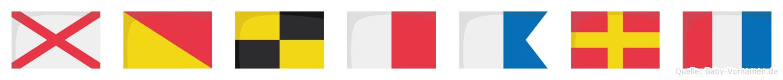 Volhart im Flaggenalphabet