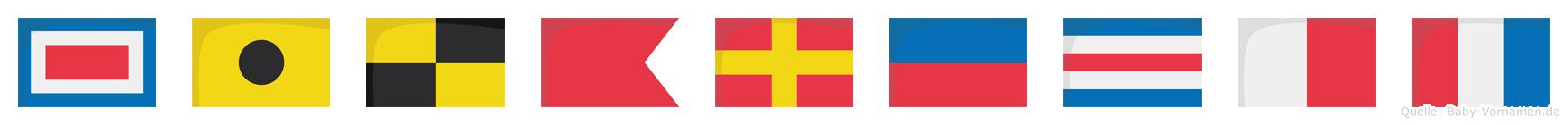 Wilbrecht im Flaggenalphabet