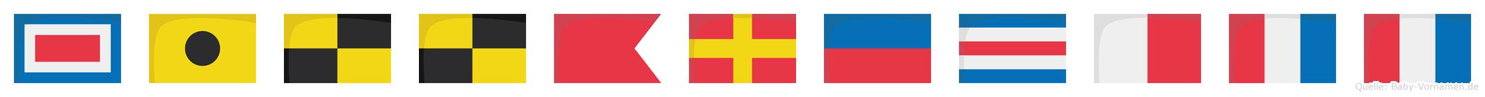 Willbrechtt im Flaggenalphabet