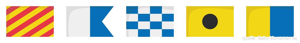 Yanik im Flaggenalphabet