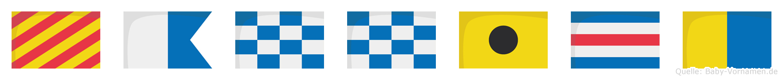 Yannick im Flaggenalphabet