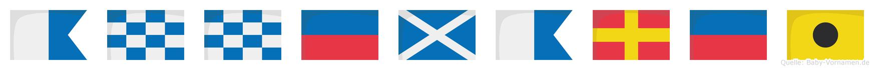Annemarei im Flaggenalphabet