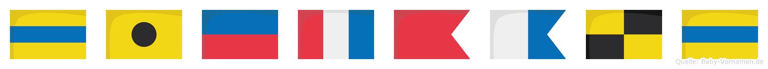 Dietbald im Flaggenalphabet