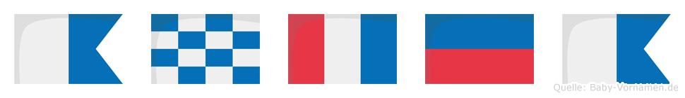 Antea im Flaggenalphabet