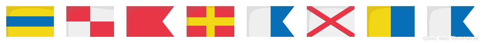 Dubravka im Flaggenalphabet