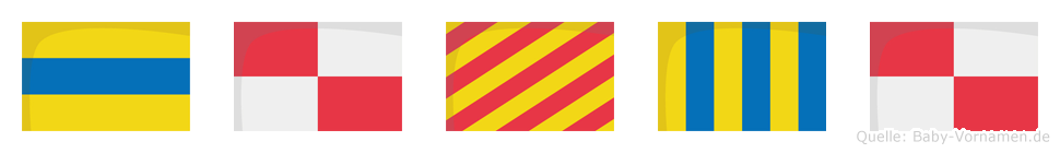 Duygu im Flaggenalphabet