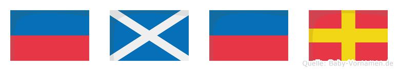 Emer im Flaggenalphabet