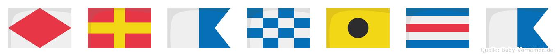 Franica im Flaggenalphabet