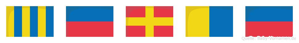 Gerke im Flaggenalphabet