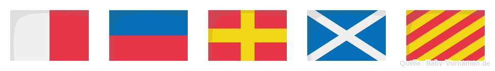 Hermy im Flaggenalphabet